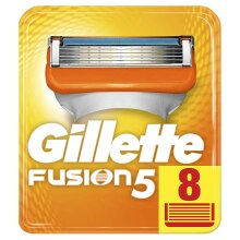 Gillette Fusion Mens Replacement Razor 5-Blade Cartridges - 8 Pack of Blades