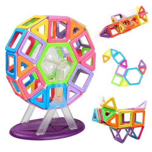 Magnetic Building Blocks | Innoo Tech Frreis Wheel Building Set | 46 Pieces