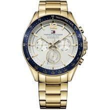 Tommy Hilfiger Luke Men's Watch TH1791121 Gold & Blue, New with Tags