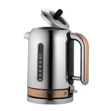 Dualit Classic Kettle Polished Stainless Steel and Copper Trim