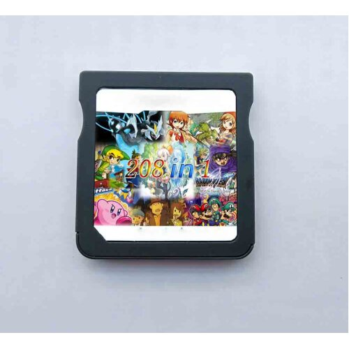 208 in 1 Game Pack Card NDS DS Album Cartridge Flash Multicart