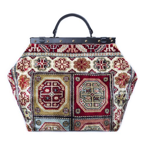 SAC-VOYAGE Aztec Red - large Mary Poppins Victorian CARPET BAG