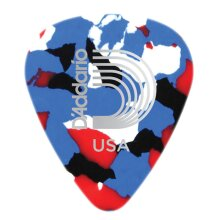 D'Addario Planet Waves Classic Celluloid Guitar Picks Multi Colour Extra Heavy 1.25mm 10 Pack 1CMC7-10