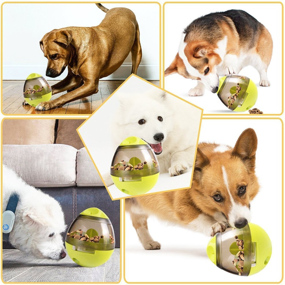 JCT Pet Food Ball, Treat Dispensing Dog Toy,Funny Tumbler IQ Treat Toys Ball Interactive Dispensing Chew Ball to Bowl Feeding for Dogs Cats Easy