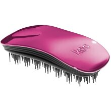 Ergonomic & high quality ikoo home hairbrush in colorful Pink with black TCM bristle panel for a daily wellness experience & detangling