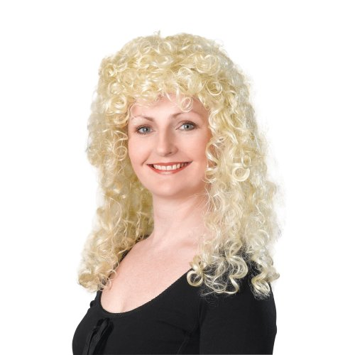 1980/'s LONG GINGER CURLY BUDGET WIG Ladies Womens Fancy Dress Costume Accessory
