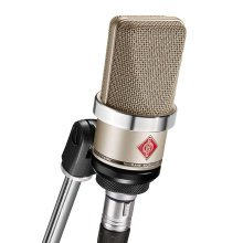 Neumann TLM102 studio condenser microphone with stand clamp (nickel)