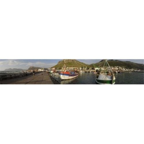 Fishing boats at a harbor  Kalk Bay  False Bay  Cape Town  Western Cape Province  South Africa Poster Print by  - 36 x 12