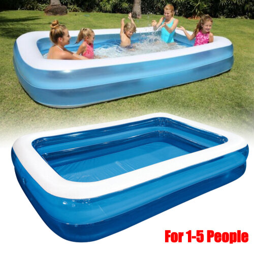 Large Family Swimming Pool Outdoor Garden Summer Inflatable Kids Paddling Pools for 1-5 People - 262*175*50cm