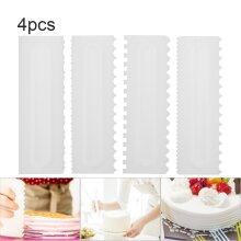 Cake Scraper Decorating Comb Edge Cheese Butter  Pastry Baking Tool