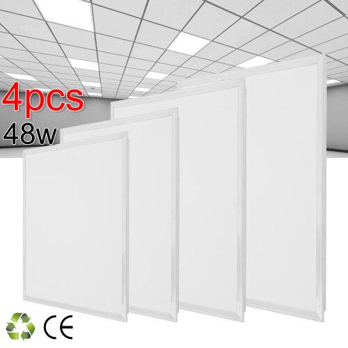 4pcs 48W LED Panel Light Recessed Ceiling 600 x 600 x 10mm - Cool White 6500K