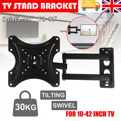 Tilt Swivel TV Wall Mount Bracket 3D LED LCD Plasma For 10 to 42 Inch