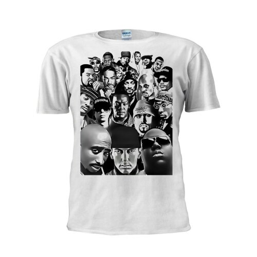 Rap Legends T Shirt Hip Hop Biggie Eazy E Ice Tupac Rappers Dope Hipster Trendy Men Women Unisex Shirt