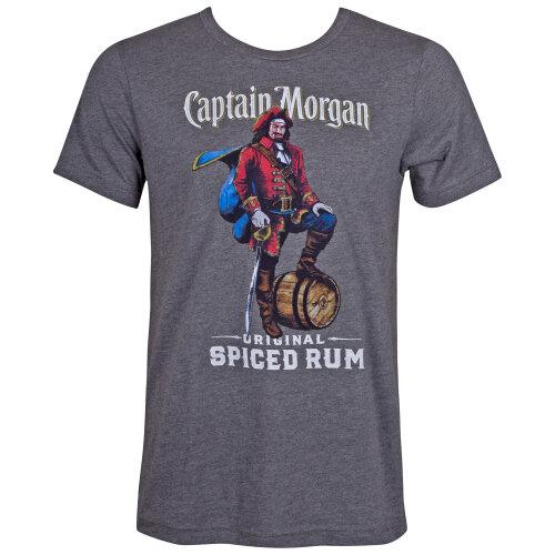 (Grey) Captain Morgan Spiced Rum Grey Tee Shirt