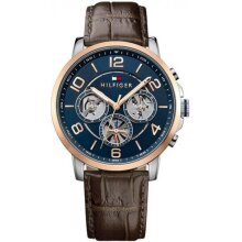 Tommy Hilfiger Blue Dial Multifunction Men's Watch TH1791290 New With Tags