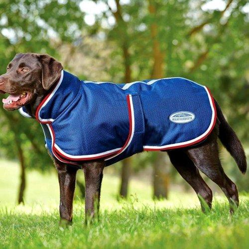 (60cm, Navy/Red/White) Weatherbeeta Parka 1200d Deluxe Dog Coat
