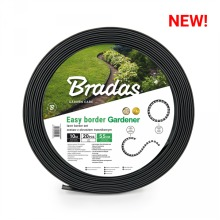 10m flexible lawn edging with holding pegs,5.5cm high