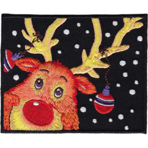 Patch - C&D - Holiday - Reindeer New Iron-On p-4296