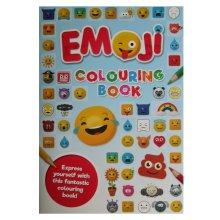 Emoji Colouring Book Blue