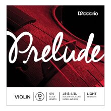 D'Addario Prelude Violin String Single D String J813 4/4 Scale Light Tension