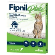 Fipnil Plus Spot On Cat Flea Treatment 0.5ml x 3 Pipettes