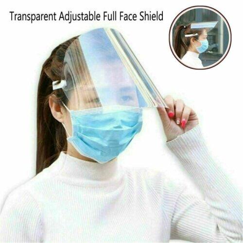 (5 pcs) Unisex Anti Saliva Hat Splash Dustproof Transparent Full Face Shield Protective Cover