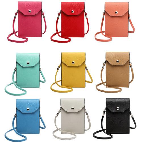 Miss Lulu PU Leather Mobile Phone Pouch   Cross-Body Phone Bag