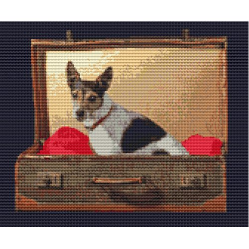 "Jack Russell Counted Cross Stitch Kit 12"" x 10"" 30cm x 25cm"