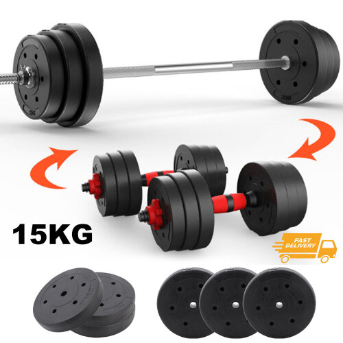 Home Gym Training Weight Lifting Plates 15kg Vinyl Weight Plates Set