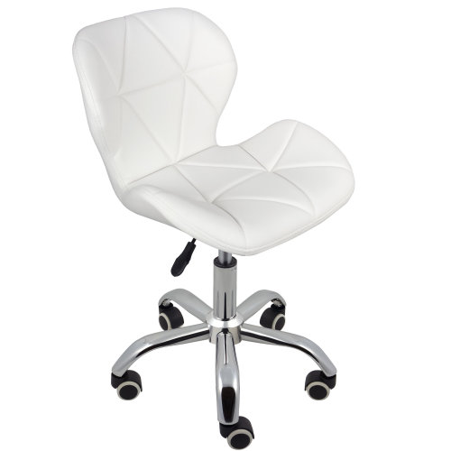 (White) Charles Jacobs Cushioned Swivel Office Chair
