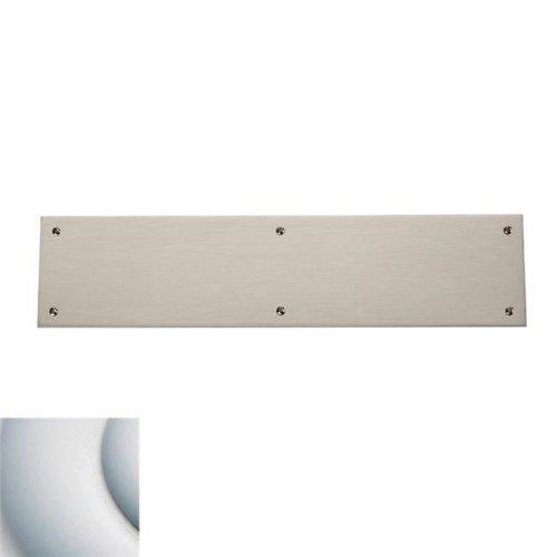 3.5 x 15 in. Square Edge Push Plate, Satin Chrome