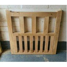 Solid Oak Handcrafted Solid Gate Hardwood 3FT H - UP TO 8 WEEK WAIT