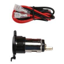 12V USB Dual Car Cigarette Lighter Socket Charger Power Adapter 60cm Cables Fuse