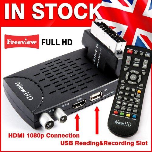 FULL HD Freeview Set Top Box Receiver Digital TV Tuner (iView HD Mini)