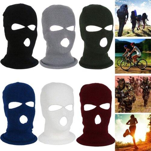 3 Hole Full Face Ski Mask Balaclava Beanie Warm Hat