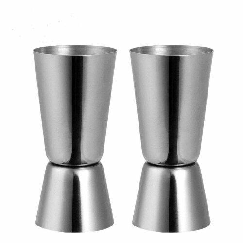 2 Spirit Shot Measure Cups Stainless Steel