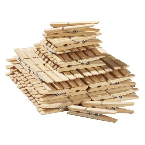 Strong Wooden Clothes Pegs Durable Extra Strong Grip Laundry Cloth Washing Line 48 Pack