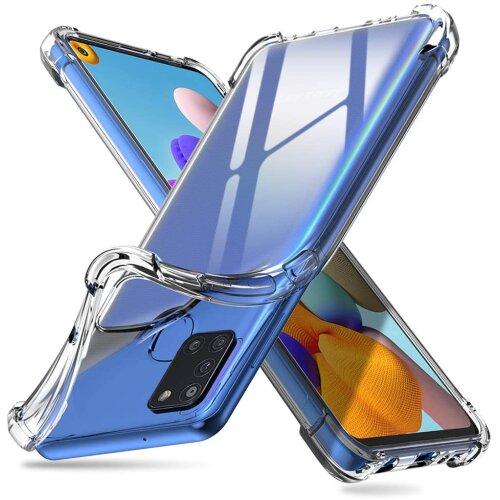 For Samsung Galaxy A21S Slim Bumper Clear TPU GEL Shockproof Case Cover