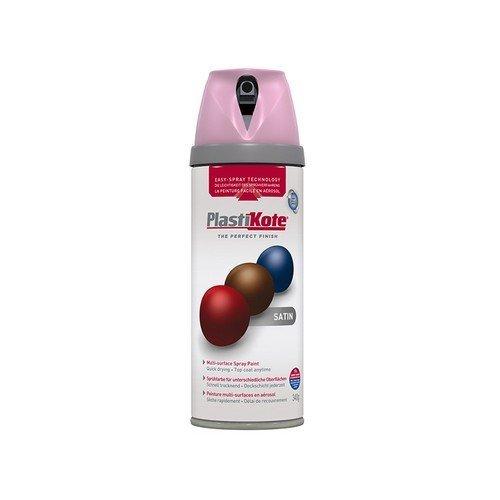 Plasti-Kote PKT22107 Twist & Spray Satin Cameo Pink 400ml