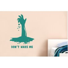 Dont Wake Me Wall Stickers Art Decals - Large (Height 67cm x Width 57cm) Aqua Green