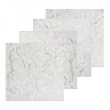 4pk YÖL White Marble Effect Self-Adhesive Vinyl Floor Tiles
