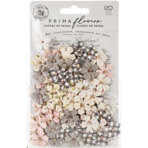 Prima Marketing Spring Farmhouse Mulberry Paper Flowers 120P-Beautiful Life