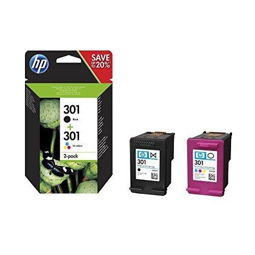 HP N9J72AE 301 Original Ink Cartridge, Black and Tri-Colour, Pack of 2