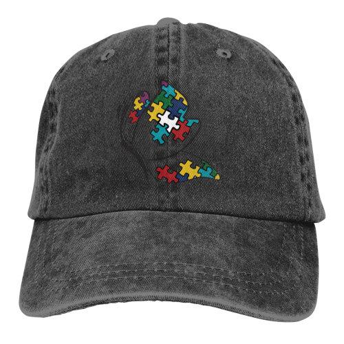 Autism Butterfly Logo Denim Baseball Caps