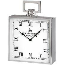Hill Interiors Large Nickel Bond Street Mantle Clock
