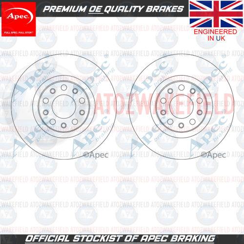 FOR ALFA ROMEO GIULIA 2015- FRONT PREMIUM APEC BRAKE DISCS PAIR 305mm 50532930