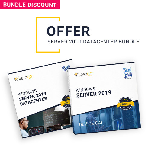 Special Bundle - Windows Server 2019 DataCenter 16 Core incl. 1 Device CAL