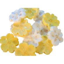 Mix of Coloured Blossoms Ideal Birthday Cupcake or Cake Decorations