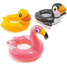 Inflatable Children's Animal Split Swimming Rings by Intex