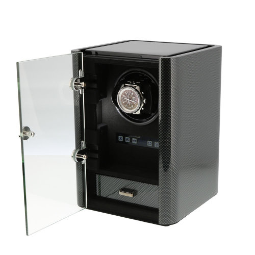 Premium Watch Winder Carbon Fibre Finish Classic Collection by Aevitas
